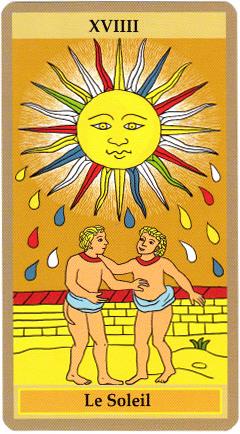 Quand j'ai découvert le tarot de Marseille, il me semblait naturel de préférer le Soleil,