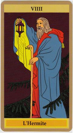 la discrète lueur de l'Hermite qui, selon Jodorowsky, avance à reculons