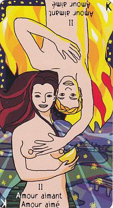Amour aimant - Amour aimé de l'Oracle Fontaine en version féminine