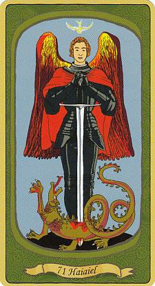 """Haiaiel """"l'inflexible"""", surmonté de la colombe du Saint-Esprit"""