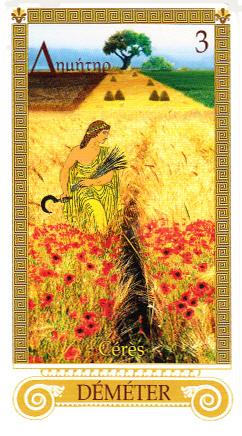 Oracle de l'Olympe. La déesse grecque Déméter