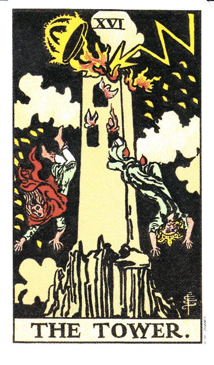 la puissance céleste éclate sur la Maison Dieu et s'abat sous la forme d'une gigantesque flamme