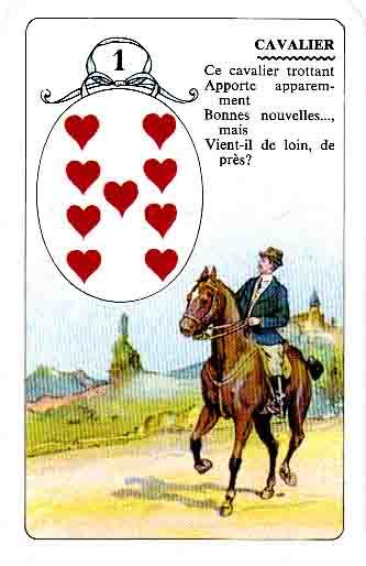 le cavalier, fièrement campé comme il se doit, qui apporte prestement des nouvelles
