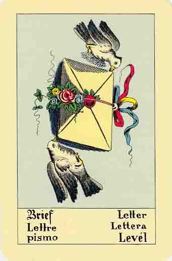 La lettre, généralement apportée par un oiseau